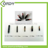 2.12 * 12mm 134.2kHz etiqueta de vidro para animais RFID com microchip ID animal