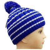 POM POMの高品質によって縞で飾られる編まれた帽子