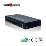 Porta de 1 gigabit com interruptor da rede Ethernet de acesso da fibra SFP e 8 100Mbps de 1 1000M