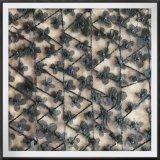 網3Dの刺繍のレースの網の花3Dの刺繍のレース