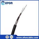 Cable óptico directo de fibra de la base del entierro 8 del aluminio doble de la envoltura (GYTA53)