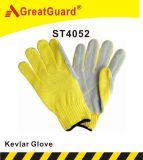 Supershield Resistente a cortes de la seguridad de cuero guante de trabajo (ST4052)