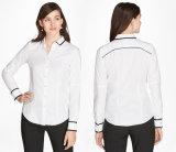 Camicia croccante del Chambray del cotone delle donne