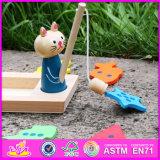 Giocattolo di legno W01b029 di pesca del gatto dei 2016 nuovi capretti di disegno