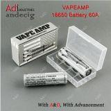 60A 3.7-4.25V Vapeamp 18650 건전지에 본래 40A