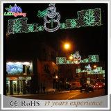 Solarweihnachtsdekoration-Feiertag über LED-Straßenlaterne