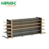 Tienda de lujo madera metal Visualización combinada Rack