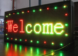 Храните счетчик прозрачных рекламы светодиодные панели входа P10-красный цвет