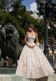 Ballgown Prom 복장 (42005)를 구슬로 장식하는 빨강 까만 레이스
