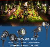 Il giardino impermeabile del punto di IP65 LED illumina i riflettori del percorso del giardino