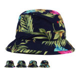 Bonito chapéu de balde de flores de estilo natural novo