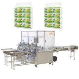 Papier de soie de soie faciale s'enveloppant empaquetant la machine de module