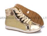 Ботинки PU отдыха ботинок женщин с веревочкой Outsole Snc-55015