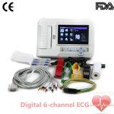 接触Screen DIGITAL 6チャネルElectrocardiograph ECG EKGステラ