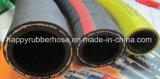 Mangueira de borracha da irrigação da entrega da água de Layflat da trança de matéria têxtil da fibra