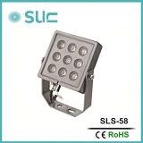 Punto Potente alta al aire libre Light / LED abajo se enciende / LED de la luz del jardín / 9W IP65 aluminio LED del bulbo del proyector / del punto del bulbo