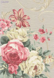 106cm de large de la largeur de papier peint gaufré de vinyle avec fleur