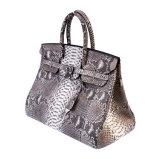 ブランドデザイン女性のための本物の大蛇の皮の革ハンドバッグのトートバック