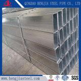 Sección rectangular de acero galvanizada sumergida caliente de la depresión del tubo