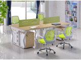 Estação de trabalho reta da divisória do escritório das pessoas do verde 4 da forma (SZ-WSL307)