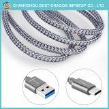 Carga rápida de trenzado Nylon 10Gbps Cable USB 3.1 tipo C para el MacBook Samsung Galaxy S8