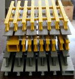 T-Barra 38m m el profundamente 17% o el 33%, el 50%, reja abierta de Pultruded Pedestring de la fibra de vidrio del 60%, reja de la extrusión por estirado de la fibra de vidrio