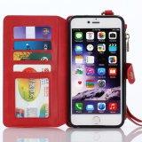 Caisse en cuir de téléphone de bourse de pochette pour l'iPhone 6plus