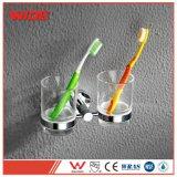 Taza doble del vidrio del cepillo de dientes de los accesorios del cuarto de baño del hotel