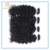 Hochwertige natürliche Farben-peruanisches tiefes lockiges Jungfrau-Haar mit vollem Häutchen Wfpdc-001