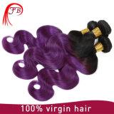 Migliori capelli di vendita del Virgin dell'onda del corpo dei capelli umani di Omber