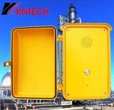 Teléfono industrial del SIP de intercomunicación de Kntech Knsp-04 del sistema del teléfono industrial del borde de la carretera