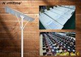 120W calle la luz solar Sunpower con Panel Solar y batería de litio