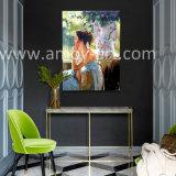 Pitture a olio figurate Handmade su tela di canapa per la decorazione domestica