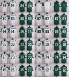 Дешевые мужские детей женщин малышей Нью-Йорк Chrebet Decker Mark Fitzpatrick Gastineau слоновой костью пустые игры белый зеленый американского футбола футболках Nikeid Custom любое имя цифры