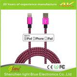Cavo Braided di nylon Mfi certificato illuminando il cavo del USB per il iPhone X/8/7