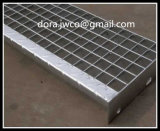 Échelle de plate-forme galvanisée / ISO Serrated Stair Treads Grating