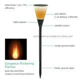 Torche lumière solaire 96 Lampe LED avec la flamme d'effet de scintillement lumière chaude de l'éclairage de jardin IP65