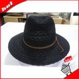 Chapéu de Panamá do Fedora de Sun das mulheres da palha da fita do laço
