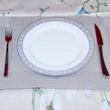서쪽 세라믹 큰 접시 찻잔과 접시 고정되는 중국 식기류 식기