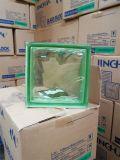 Bloque de cristal nublado verde /Brick