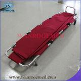 Esticador Mortuary de dobramento de alumínio do saco para o transporte de cadáveres Ea-1A5 com rodas