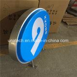 Signe en plastique elliptique rond carré extérieur thermoformé de Lightbox de vide de DEL