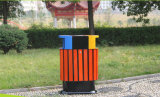 Сад для использования вне помещений пластика из дерева в мусорное ведро с покрытием (HW-08)