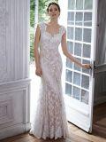 Champagne Lining Vestidos de noiva Cap Sleeve Vestido de casamento de renda S201797