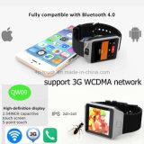 Téléphone intelligent de montre de Bluetooth 4.0 chauds du WiFi 3G (QW09)