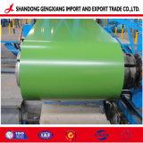 SGCC Prepainted Folha de aço com revestimento de cor no PPGI bobinas de aço