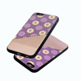 Caixa do telefone móvel da pasta TPU do plutônio das flores para o iPhone