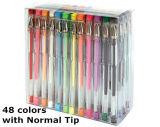 최신 Selling 다중 Color Gel Pen 12 24 36 48 Color Gel Pen Set 또는 Glitter Gel Pen Packs
