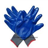 13G полиэстер промышленных рабочих нитриловые перчатки безопасности с покрытием