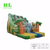 Forme de bus de l'Amusement Park Diapositive gonflables pour enfants